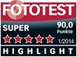 "Testurteil ""Super - Highlight"" laut Fototest 01/2014"
