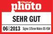 """Testurteil """"sehr gut"""" laut DigitalPHOTO 06/2013"""