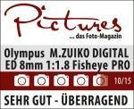M.ZUIKO DIGITAL ED 8 mm Fisheye 1:1.8 PRO: - Außerordentlich scharfe Aufnahmen - Hervorragendes Preis-/Leistungsverhältnis - Hervorragende Verarbeitung