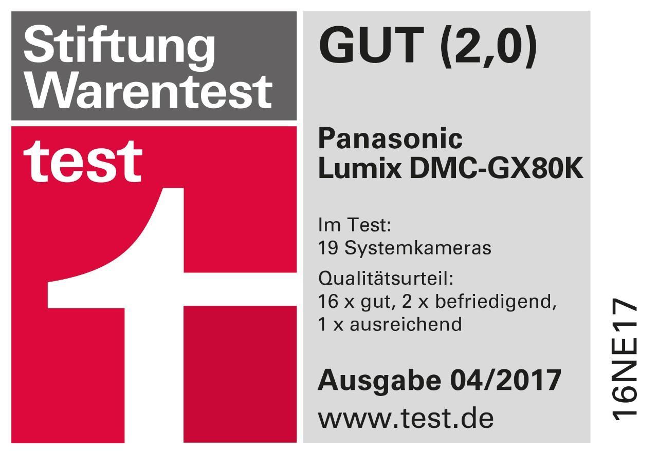 Stiftung Warentest 04/2017, LUMIX GX80, GUT (2,0)