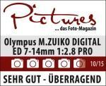 M.Zuiko Digital ED 7-14 mm 1:2.8 PRO: - Außerordentlich scharfe Aufnahmen - Hervorragendes Preis-/Leistungsverhältnis - Hervorragende Verarbeitung